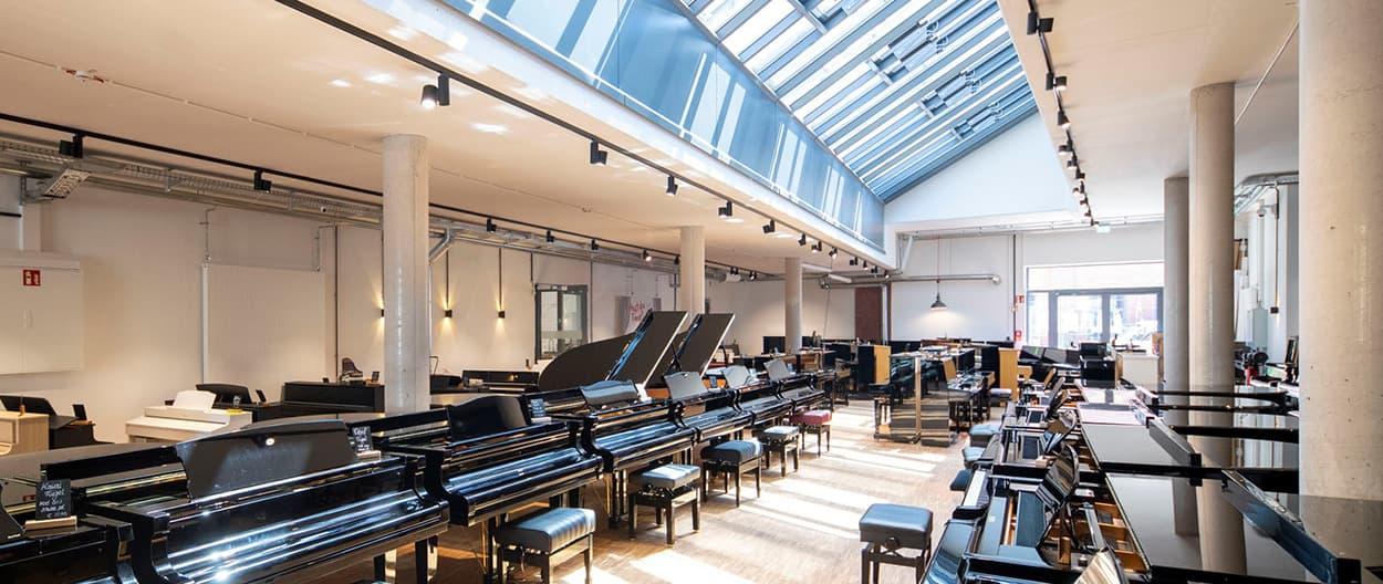 Klavier-Ausstellung Über 100 Instrumente zum Anspielen