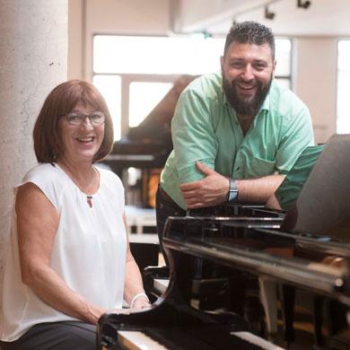 Sylvia und Thomas         Kreisel Klavierbauer Nürnberg Fürth