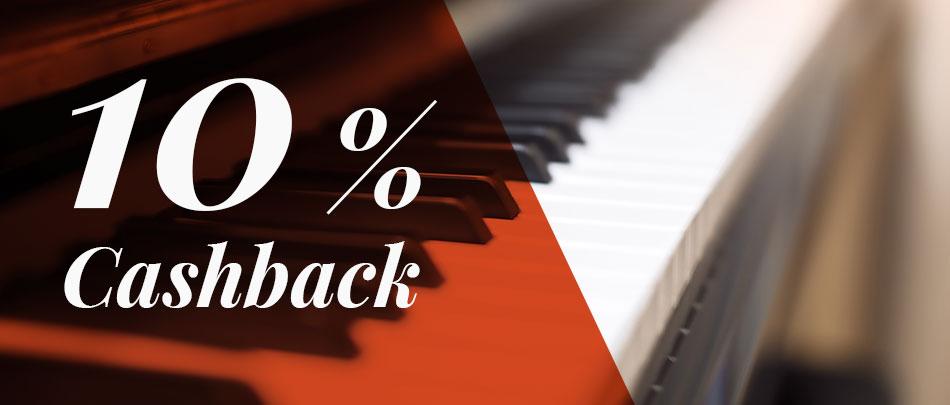 10 % Cashback auf Klaviere Nürnberg Fürth