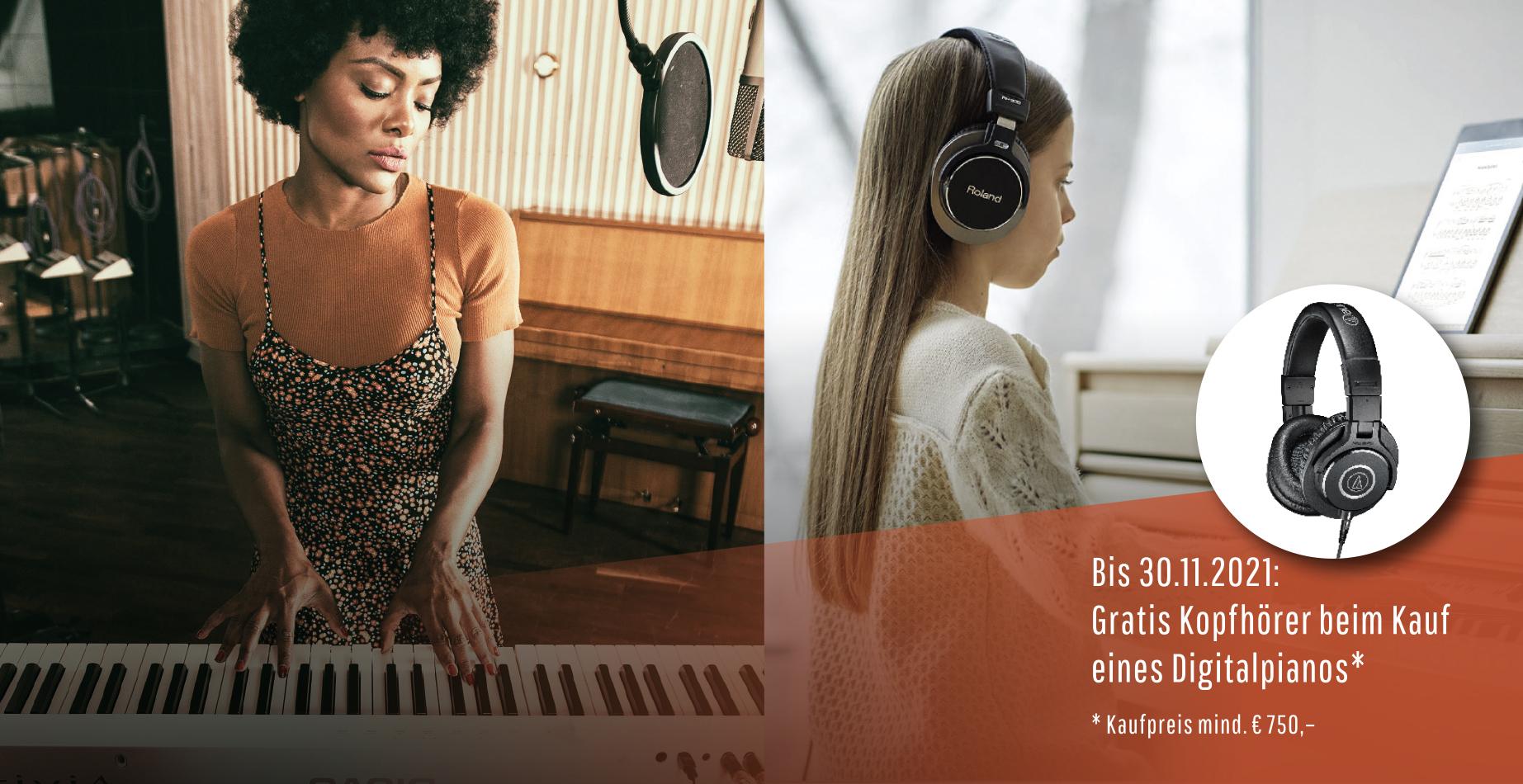 Gratis Studio-Kopfhöhrer beim Kauf eines E-Piano