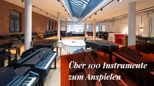 Über 100 Instrumente zum Anspielen