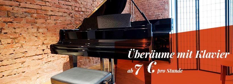 Überräume mit Klavier oder Flügel